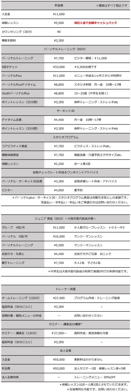 LABO価格表